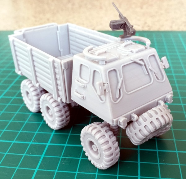 Military Truck with Gun Ring