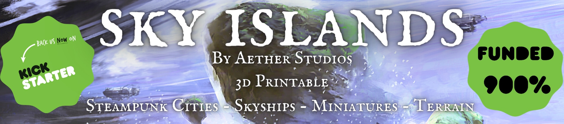Aether Studios Kickstarter: Sky Islands