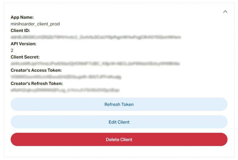 Patreon Client Details