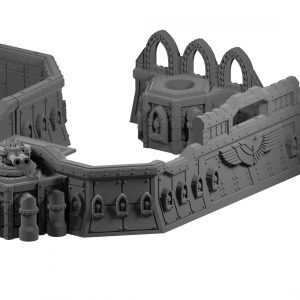 Imperial style barricades for Warhammer 40k from Mystic Pigeon Gaming