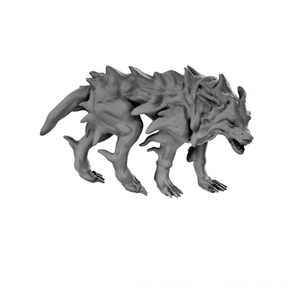 Blink dog resin miniature from Mystic Pigeon Gaming
