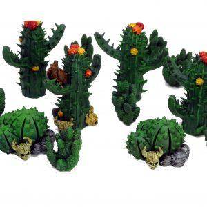 Desert cactus resin miniatures from Mystic Pigeon Gaming