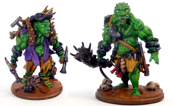 Cave troll and cave troll prospector from Mystic Pigeon Gaming