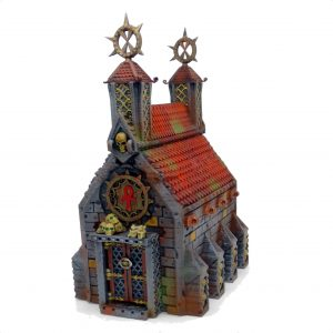 Chruch/Crypt tabletop terrain from Mystic Pigeon Gaming