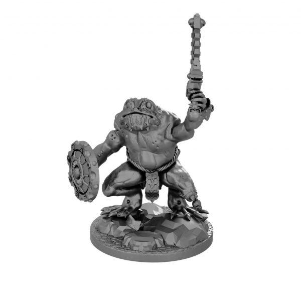 Frogfolk miniature (DND or Skink Proxy) from Mystic Pigeon Gaming