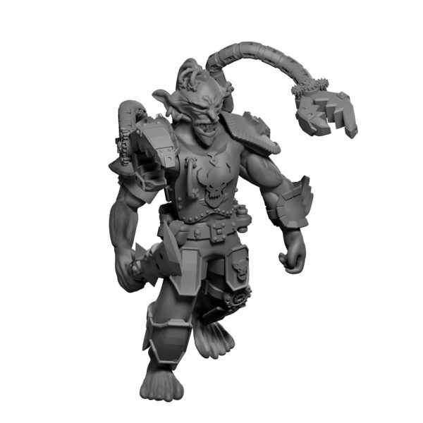 dnd Goblin Artificer (resin miniature from Mystic Pigeon Gaming)