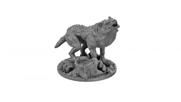 Wolf miniature from Mystic Pigeon Gaming