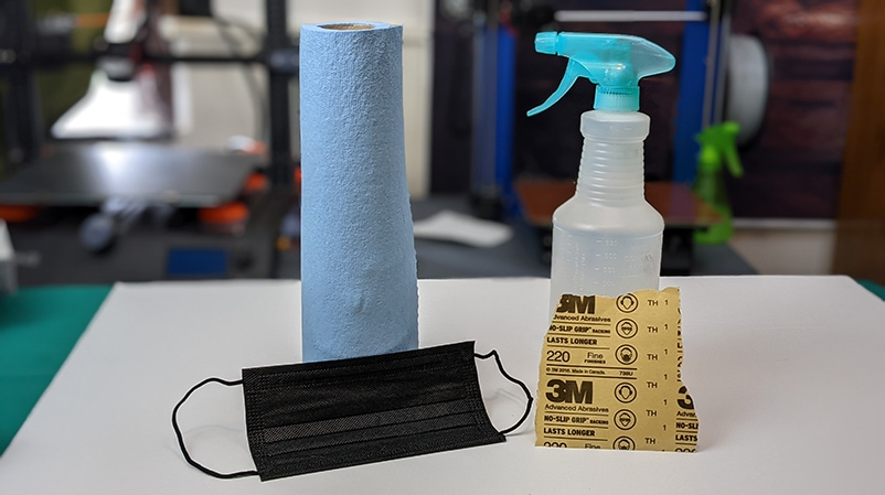 Required materials to scuff a build pate