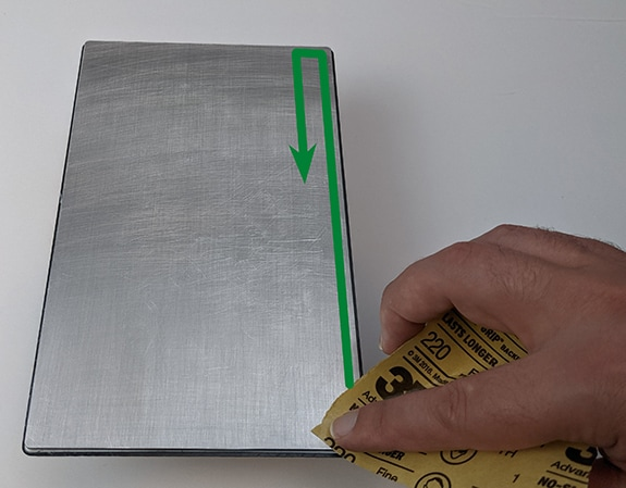Scuff a build plate, step 1