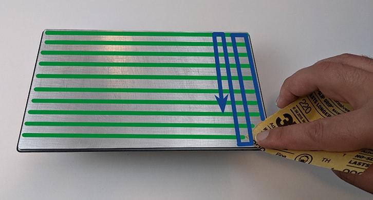 Scuff a build plate, step 2