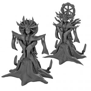 Lady of pain resin miniature from Mystic Pigeon Gaming