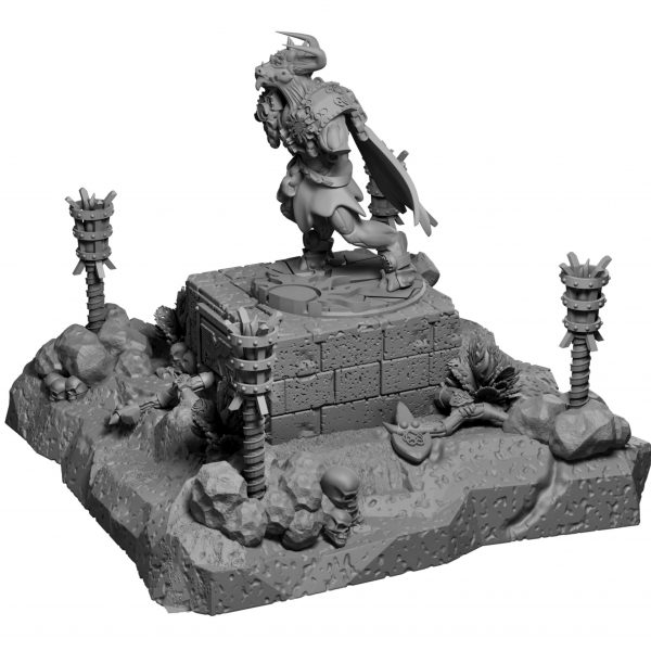 Ancient ruined minotaur statue from Mystic Pigeon Gaming
