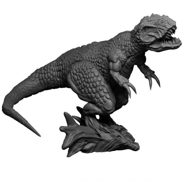 T-Rex resin miniature form Mystic Pigeon Gaming