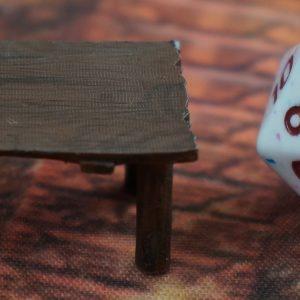 Table Log Legs Painted